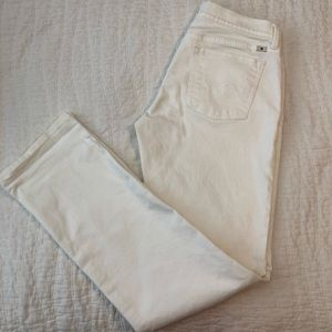 Lucky brand white sweet straight jeans